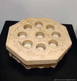 Hexagonal Tea Light Holder (Marble)