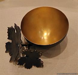 Maple Leaf Metal Bowl