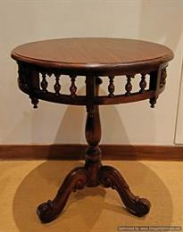 Wooden Carved Design Side Table