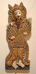 Wooden Burmese Wall Sculpture