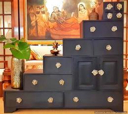 Designer Wooden Step Cabinet